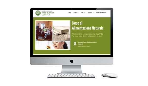informazioni chiare di un sito di una scuola di naturopatia